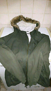 Large green winter jacket