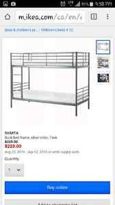 Metal Bunk bed with 2 foam mattresses