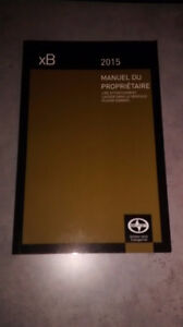 2015 Scion xB Owner's Manual (French / Francais)