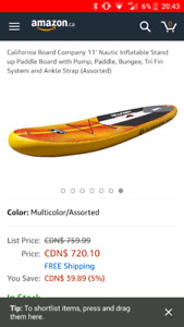 11' inflatable paddle board SUP