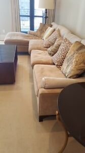 Sectional beige couch