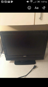 "Aveis 19"" flat screen LCD, built in DVD"