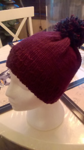 Hand knit hats  (woman's)