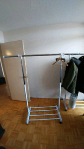 Adjustable Rolling Clothes Rack