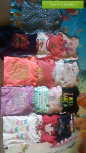 Girl clothes size 6 to 12 months. 60+ items