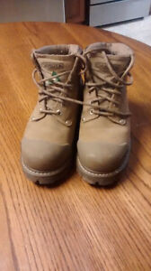 Womens Steel Toe Construction Safety Boots - leather uppers