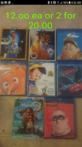 Disney movies for sale 12.oo ea or 2 for 20.oo