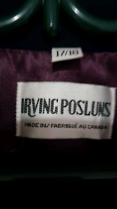 Irving Posluns Classic Trench Coat