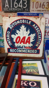 OAA doble sided sign