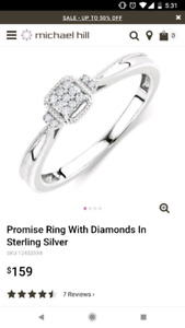 Micheal Hill Promise Ring & Thomas Sabo Heart Necklace