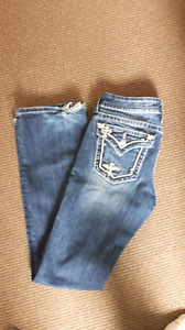 Miss mes, size 28 (long)  rips in heels
