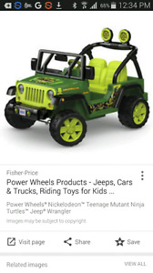 Wanted: power wheels
