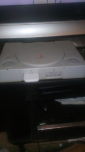 PS1 With 2 Controllers 2 Memory Cards and 15 Games