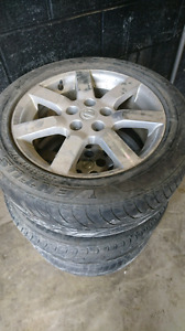 3 nissan car rims and tires 5x114.3