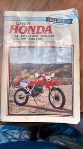 Clymer Honda XL/XR250-350 shop manual