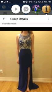 Long royal blue prom dress for sale