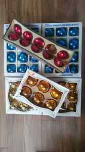 Vintage Glass Christmas Ornaments - Made in Canada / USA