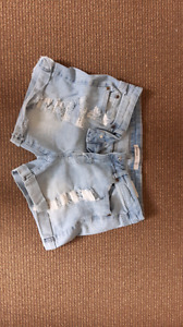 Ripped blue notes shorts