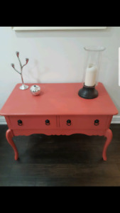 Refinished desk / sofa / vanity / table $50