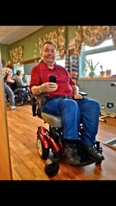Motorized wheel chair like new condition