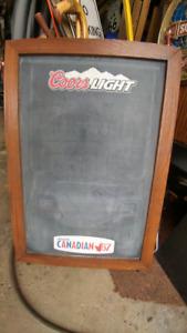 COORS LIGHT/CANADIAN CHALKBOARD