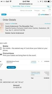 Carrie Underwood Tickets (2)