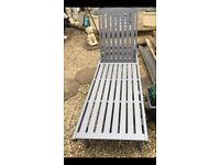 Teak hardwood pair !! Sun loungers grey £200 Ovno come with brand new cushion coat 49.99 each alone