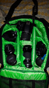Canon T5i EOS with 4 lenses +