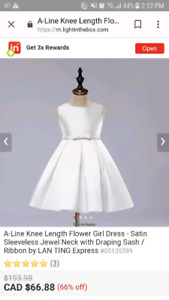 Flower girl dress/first communion dress size 6, shoes and tiara