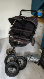 Out n about Nipper v4 double stroller buggy pushchair
