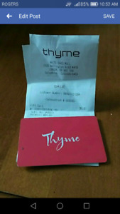 Thyme Maternity gift card ($30)