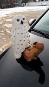 Hand Crafted Wooden Snow Owl