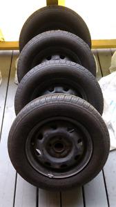 13 inch Michelin all season radials on steel rims - $200