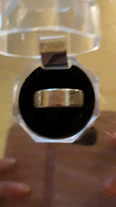 Men's titanium engraved ring 9