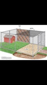 Looking for out door fencing for dog or pre fab dog kennel