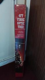 Christmas tree 4ft fibre optic, brand new