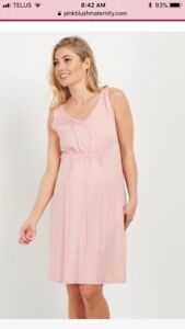 Pink blush maternity dress - new with tags