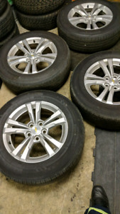225/65/17  chevy rims and tire 17 inch