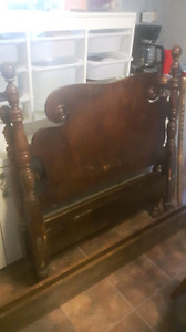 Antique bed frame and springs