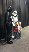Darth and Storm trooper Superhero