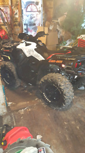 Trade 12 inch can am wheels and tires for 14s