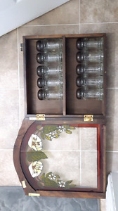 Vintage Spice Rack with 10 Shakers