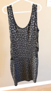 "Leopard print ""going out"" dress size S"