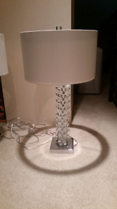 White lamps with crystal base