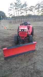 Kabota with snow plow and snow blower for sale