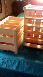 Wooden Wine Bottle Crates