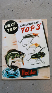 Top 3 Haddon fishing tin sign