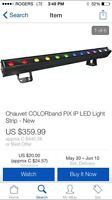 Chauvet. Led bar. Dj. Dj equipment. Lighting. Light