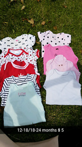 Assorted baby girl clothes 18months