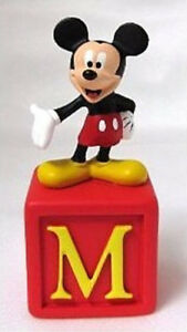 Disney Alphabet Fun Blocks Figurine - Mickey, Cinderella++